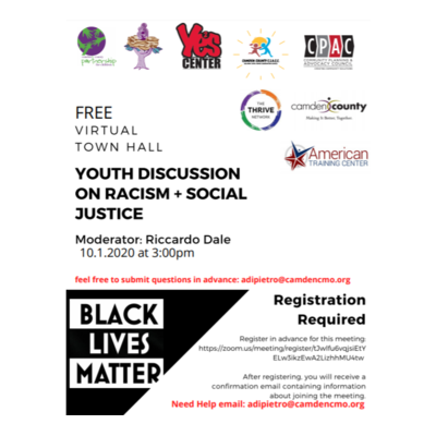 Free Virtual Town Hall: Youth Discussion on Racism & Social Justice